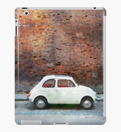 Old car watercolor painting iPad Case/Skin
