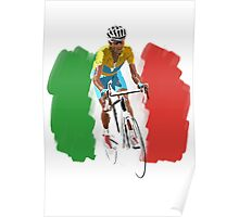Maillot Jaune , Italy Flag Poster