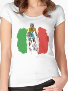 Maillot Jaune , Italy Flag Women's Fitted Scoop T-Shirt