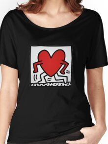 Keith Haring Running Heart Women's Relaxed Fit T-Shirt