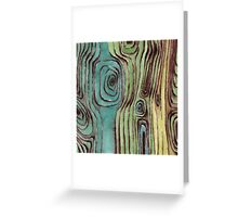 Watercolour wooden surface Greeting Card