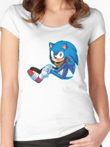 Sonic The Hedgehog/Sonic Boom  Women's Fitted Scoop T-Shirt