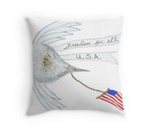 Freedom for all Pillow and Tote bag Throw Pillow