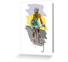 Maillot Jaune Greeting Card