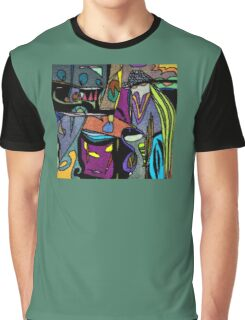 Funky Colorful Abstract Graphic T-Shirt