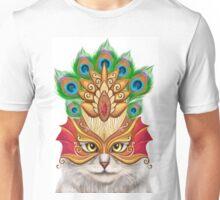 Creative portrait a cat in a mask Unisex T-Shirt