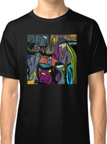 Funky Colorful Abstract Classic T-Shirt
