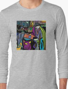 Funky Colorful Abstract Long Sleeve T-Shirt
