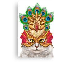 Creative portrait a cat in a mask Canvas Print