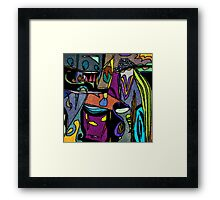 Funky Colorful Abstract Framed Print