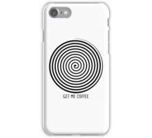 """Get me coffee"" hypno wheel iPhone Case/Skin"
