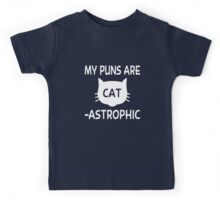 My Puns Are Cat-astrophic Kids Tee