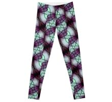 Futuristic Space Geometric Pattern Leggings