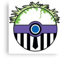 Beetlejuice Pokemon Ball Mash-up Canvas Print
