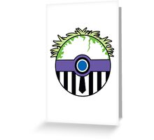 Beetlejuice Pokemon Ball Mash-up Greeting Card