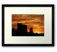 Castle Sunset - JUSTART © Framed Print