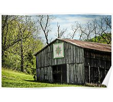 Kentucky Barn Quilt - Mariners Compass Poster