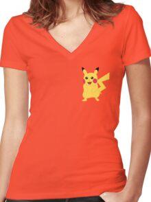 Pikachu - Pokemon Go Women's Fitted V-Neck T-Shirt