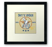 Dirty Rider Framed Print