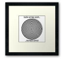 Barista Hypno Wheel Framed Print