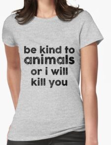 Be Kind o Animals Womens Fitted T-Shirt