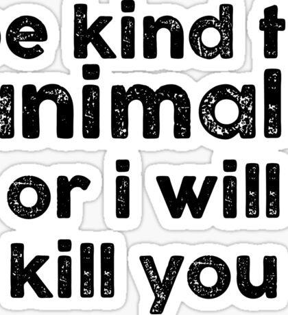 Be Kind o Animals Sticker