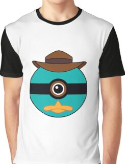 Perry the Platypus Pokemon Ball Mash-up Graphic T-Shirt