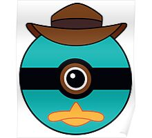 Perry the Platypus Pokemon Ball Mash-up Poster