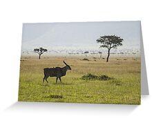 Eland in Masai Mara Greeting Card