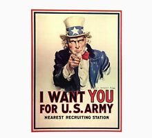 Uncle Sam I Want You For US Army Vintage Poster Unisex T-Shirt