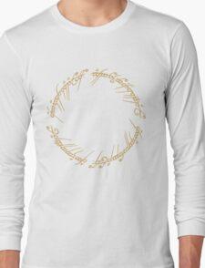 LOTR-Ring Inscription Long Sleeve T-Shirt