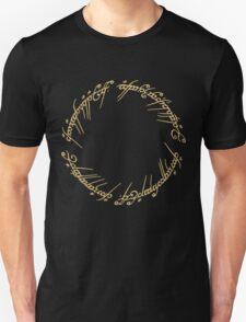 LOTR-Ring Inscription Unisex T-Shirt