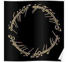 LOTR-Ring Inscription Poster