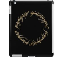 LOTR-Ring Inscription iPad Case/Skin