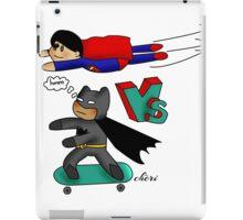 The bat versus the super - by Cheri iPad Case/Skin