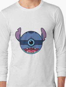 Stitch Pokemon Ball Mash-up Long Sleeve T-Shirt