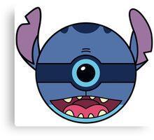 Stitch Pokemon Ball Mash-up Canvas Print
