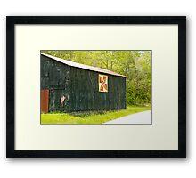 Kentucky Barn Quilt - July Summer Sky Framed Print