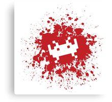 Space Invaders blood splat Canvas Print