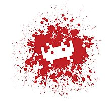 Space Invaders blood splat Photographic Print