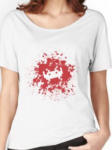 Space Invaders blood splat Women's Relaxed Fit T-Shirt