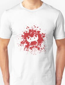 Space Invaders blood splat Unisex T-Shirt