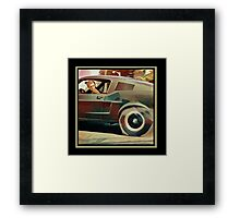 Bullitt Steve McQueen Mustang Framed Print