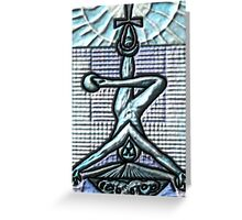 Tarot 12 The Hanged Greeting Card