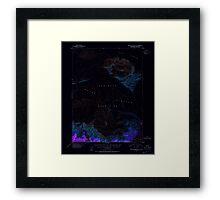 USGS TOPO Map Alaska AK Bering Glacier A-2 354358 1951 63360 Inverted Framed Print