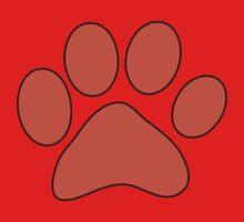 Orange Dog Paw Baby Tee