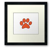 Orange Dog Paw Framed Print