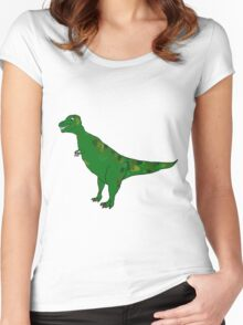 Dinosaurs drink tea Women's Fitted Scoop T-Shirt