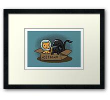 Kitten and Alien Framed Print