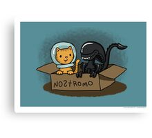 Kitten and Alien Canvas Print